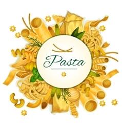 Pasta poster for italian cuisine vector
