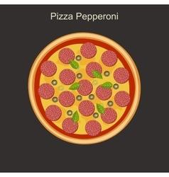Pizza peppreoni vector
