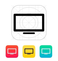 Plasma screen icon vector image