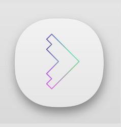 Right arrowhead app icon forward triangular arrow vector