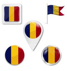 romania flag romania symbol vector image