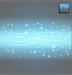 round blue glow rays night scene with sparks on vector image