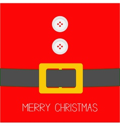 Santa Claus Coat with buttons and belt Christmas vector image