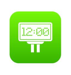 Scoreboard icon digital green vector