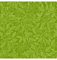 Seamless pattern of stylized leaves vector image vector image