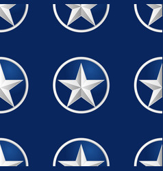 seamless stars on fabric as background vector image