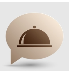 Server sign Brown gradient icon on vector image