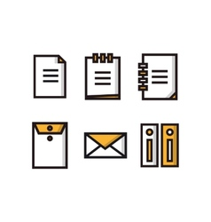 Set of document icons vector image