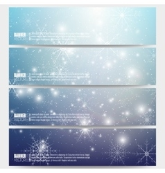 Set of modern banners Blue abstract winter vector image