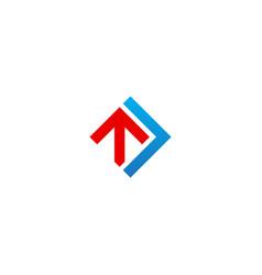shape arrow up progress business logo vector image