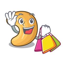 Shopping cashew nut salty roasted on cartoon vector