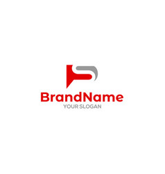 Simple ps logo design vector