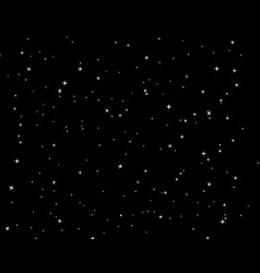 Starry sky background flat vector