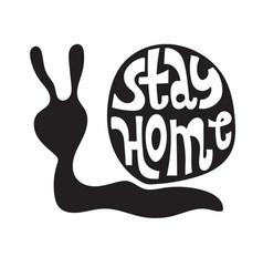 Stay home slogan vector