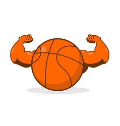Strong basketball powerful gaming accessory vector