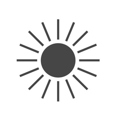 Sun icon Gray sign design vector image