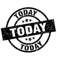 today round grunge black stamp vector image