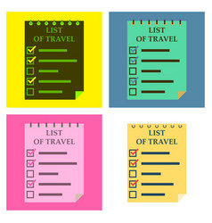Travel checklist at white background lines with vector