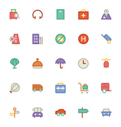 Travel Icons 6 vector image
