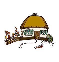 Ukrainian hut image vector