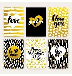 Valentines Day Trendy Brochures vector image