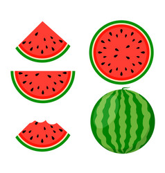 Watermelon background bite icon melon food vector
