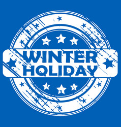 winter holiday rubber stamp vector image