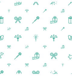 xmas icons pattern seamless white background vector image