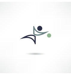 ball game icon vector image vector image