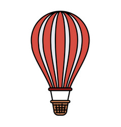 colorful silhouette of hot air balloon vector image vector image