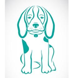 Image of an dog beagle vector