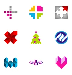 logo design elements set 45 vector image