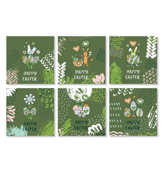 set of cards for congratulations on easter vector image vector image