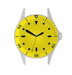 simple modern sport divers style yellow watch case vector image vector image
