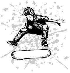 skateboarder vector image vector image