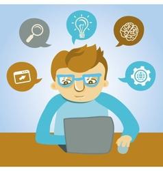 cartoon programmer vector image
