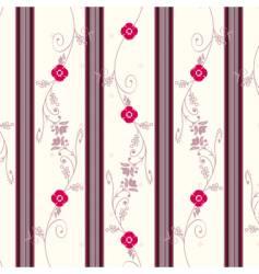 floral vintage wallpaper vector image