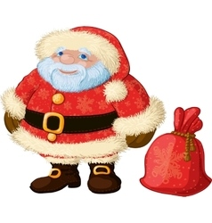 Good chubby Santa vector image