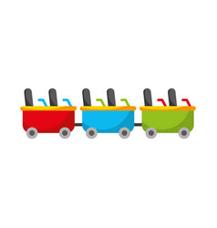 roller coaster wagons isolated icon vector image
