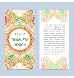 Two-side Flyer with Floral mandala pattern and vector image vector image