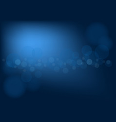 abstract dark blue background with bokeh effect vector image vector image