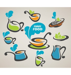 everyday meal and cooking equipment vector image vector image