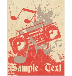 Musical background Cassette recorder vector image