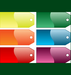 coloured gift tags vector image