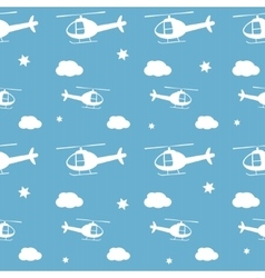 Helicopters seamless pattern vector image vector image