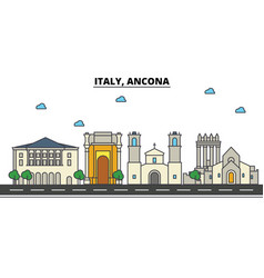 italy ancona city skyline architecture vector image vector image