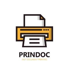 printer icon or logo vector image