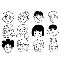 0003 hand drawn doodle cute funny cartoon vector