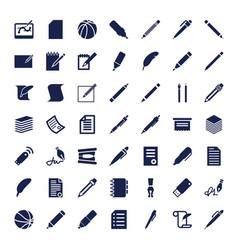 49 pen icons vector
