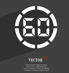 60 second stopwatch icon symbol flat modern web vector